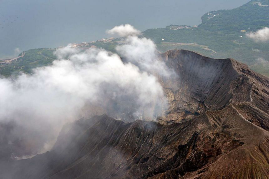 Smoke rises from the summit of Mt Sakurajima, an active volcano in Kagoshima prefecture in south-western Japan, on Aug 15, 2015.