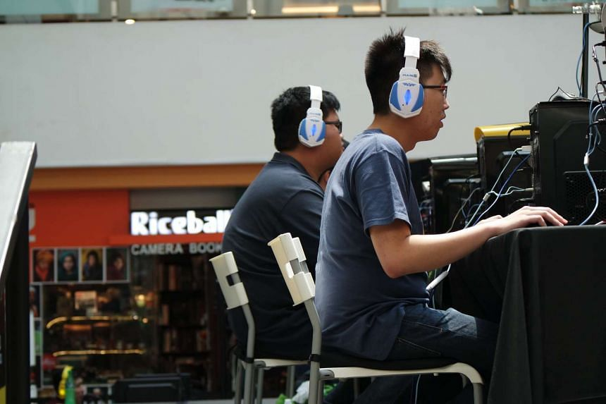 """Toh """"xy-"""" Wai Hong, 24, from Team ABC during the Dota 2 finals of the Armaggeddon Gaming Festival."""