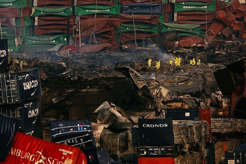GROUND ZERO: A Chinese military team of nuclear and chemical experts began work last Friday at the site of the explosions in the city of Tianjin, state media said.