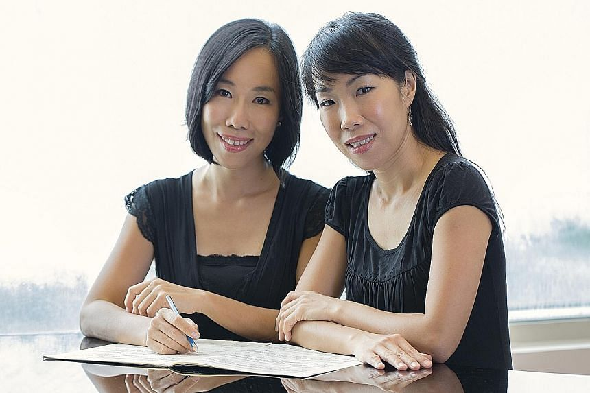 The Braddell Heights Symphony Orchestra will premiere Dreams, the newest composition by twin pianist-composers Low Shao Ying (left) and Low Shao Suan, this Sunday.