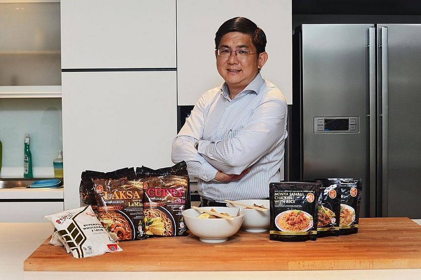 There is a perception that healthy food does not taste good and that good-tasting food is bad for your health, said Prima executive director Lewis Cheng (left).