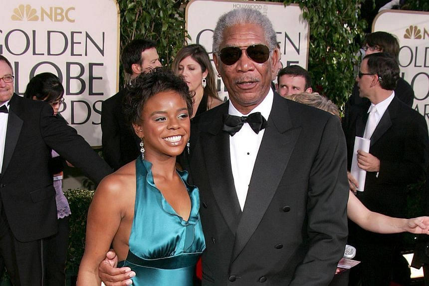 This Jan 16, 2005, file photo shows actor Morgan Freeman and step-granddaughter E'Dena Hines arriving for the 62nd Annual Golden Globe Awards at the Beverly Hilton Hotel in Beverly Hills, California.