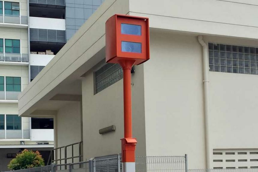 A digital red-light camera used by the Traffic Police.