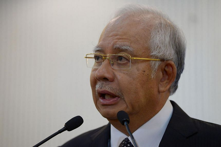 Malaysia's Prime Minister Najib Razak during a press conference in Kuala Lumpur early on Aug 6, 2015.