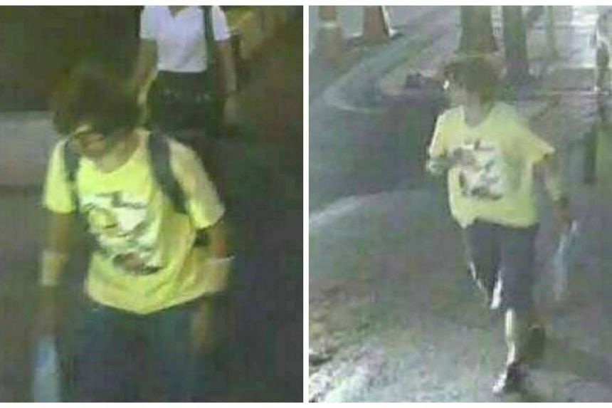 A man wearing a yellow T-shirt and carrying a backpack is seen walking near the Erawan shrine, where a bomb blast killed 22 people on Monday, in Bangkok, Thailand in these handout still images taken from closed-circuit television (CCTV) footage, rele
