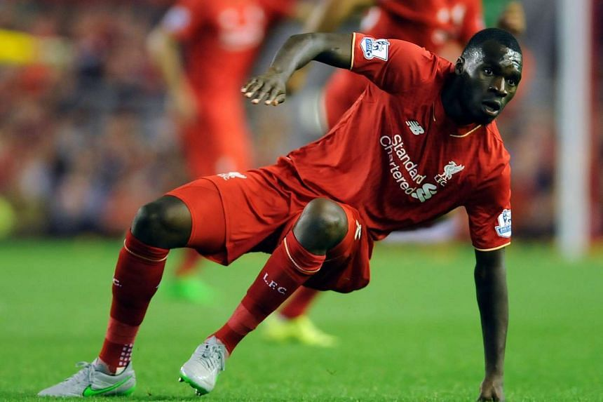 Liverpool's Christian Benteke during the English Premier League soccer match between Liverpool FC and AFC Bournemouth at Anfield on Monday.
