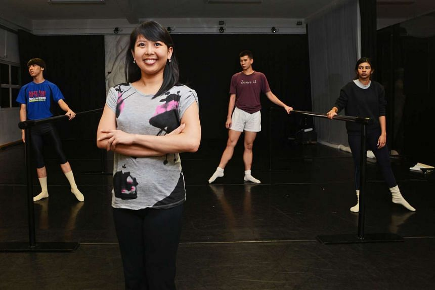 Besides doing administrative work, Odyssey Dance Theatre's associate artistic director Lo Pui Sze (above, in foreground) also dances, choreographs and teaches.