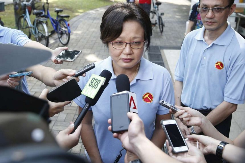Ms Sylvia Lim (above) rose twice to clarify that its auditors said AHPETC's latest set of accounts, except for certain specific issues, had complied with the Town Council Act.