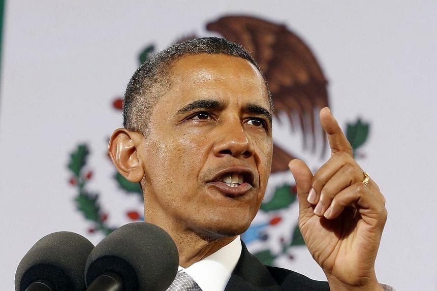 US President Barack Obama delivering a speech.