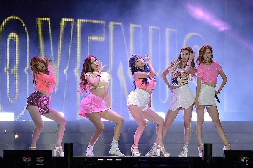 South Korean group Hello Venus performing at a concert in Seoul this month. The concert was free for foreigners, in a bid to recover the tourist numbers lost during the Mers outbreak. The government hopes to give the sector a further boost by introdu
