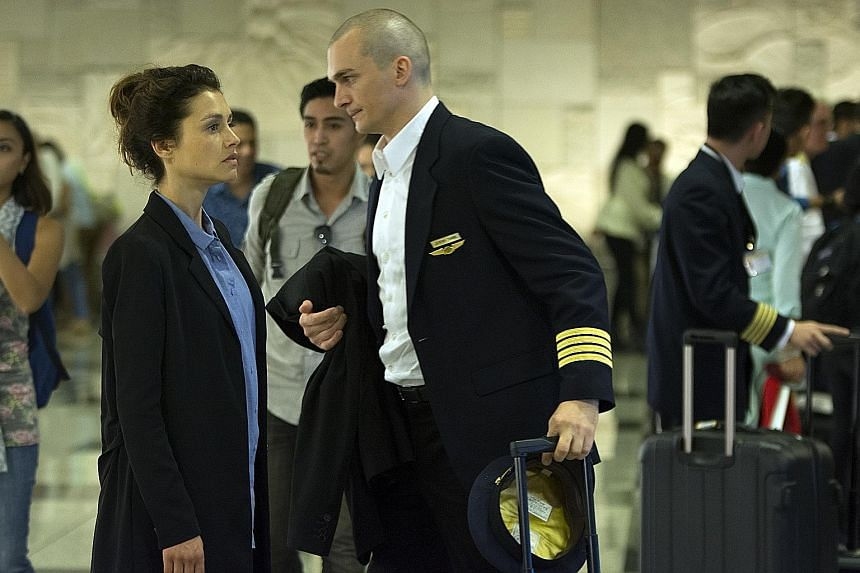 Hitman: Agent 47, starring actress Hannah Ware and Rupert Friend (both above), was partially shot in Singapore.