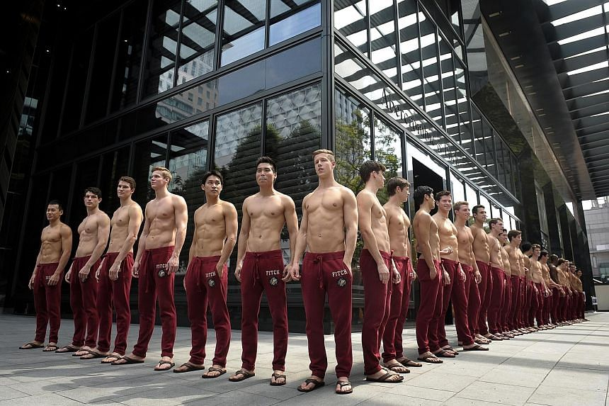 A storm of protests erupted in the months leading up to the Abercrombie & Fitch's debut in Singapore in 2011 (left). The brand's hiring policy, which had been slammed as discriminatory for putting a premium on good looks, has been revised. A spokesma