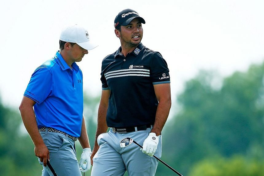 """Jason Day (right) and Jordan Spieth on the sixth tee during the final round of the PGA Championship on Sunday. """"Golf is at a very healthy stage,"""" said Day, of the growing trend of 20-something champions."""