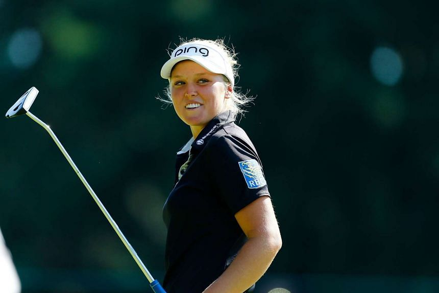 Brooke Henderson during the final round of the LPGA Cambia Portland Classic at Columbia Edgewater Country Club on Aug 16, 2015.