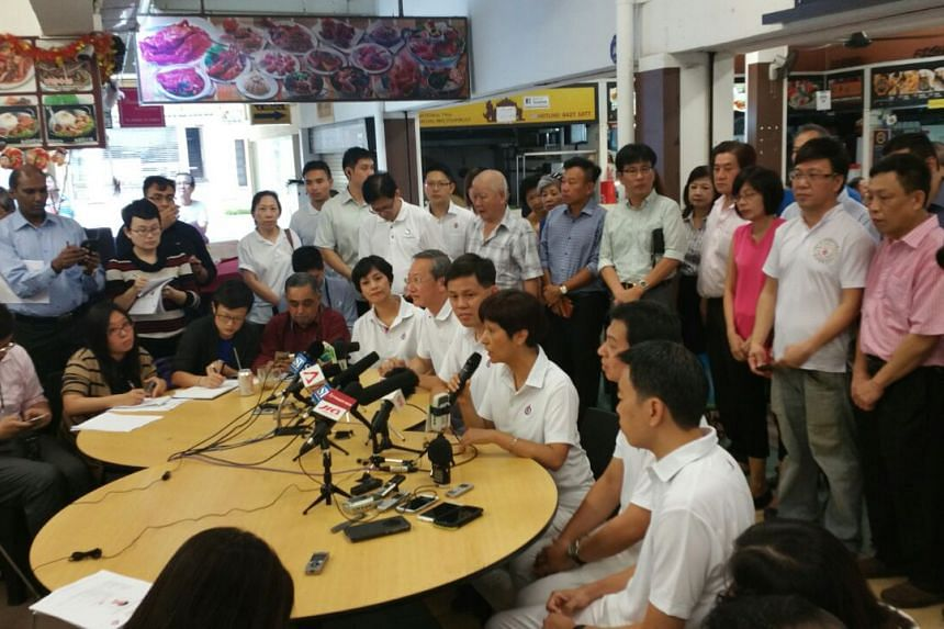 (From right to left) Mr Melvin Yong, Dr Chia Shi-Lu, Ms Indranee Rajah, Mr Chan Chun Sing, Mr Sam Tan and Ms Joan Pereira.