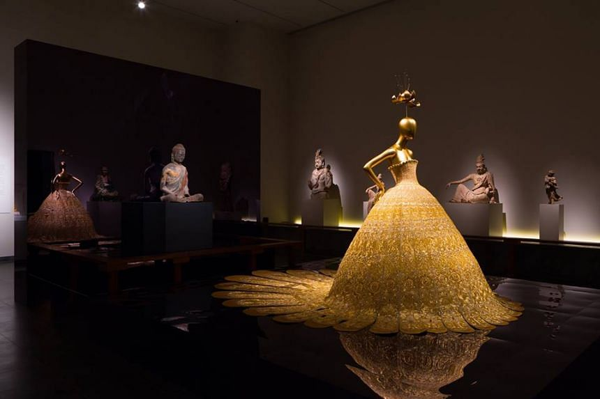 """""""China: Through the Looking Glass"""" exhibition at the Met Museum in New York City, US."""