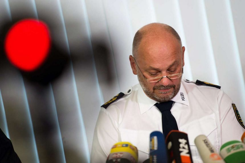 Dresden police president Dieter Kroll speaking at a press conference in the police station in Dresden, Germany on Tuesday. Police have found the body of a missing teenager in a small town near the eastern German city of Dresden after she was kidnappe