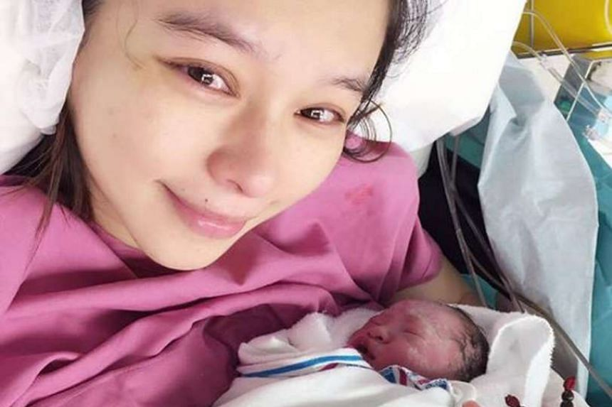 Vivian Hsu was on more than four months' bedrest in hospital before giving birth to son Dalton Lee.