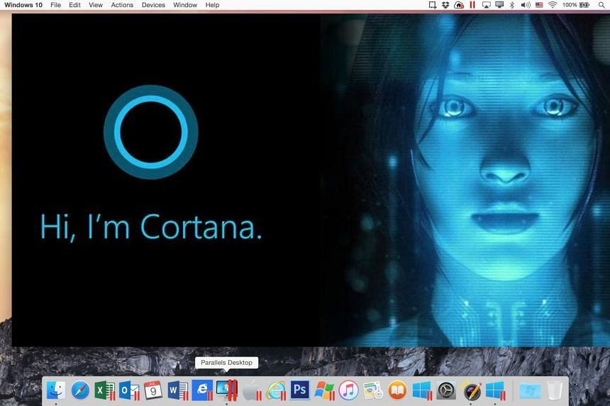 Cortana works in OS X, provided you have a Windows 10 virtual machine.