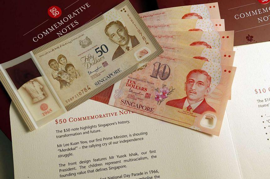 The late President's portrait is on both the $50 and $10 commemorative notes.