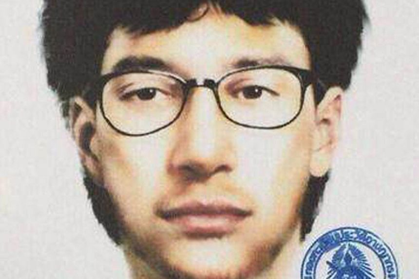A photofit of the suspected Bangkok bomber in an image released by the Royal Thai Police yesterday.