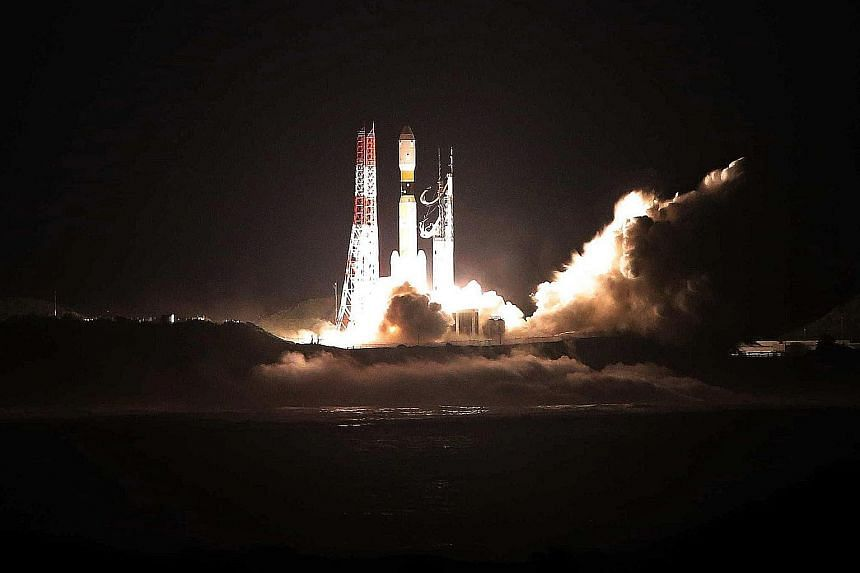 Japan's H-IIB rocket took off yesterday at 8.50pm, after its launch was postponed twice because of weather conditions. It was carrying supplies such as food, water, clothing and tools necessary for experiments in space.