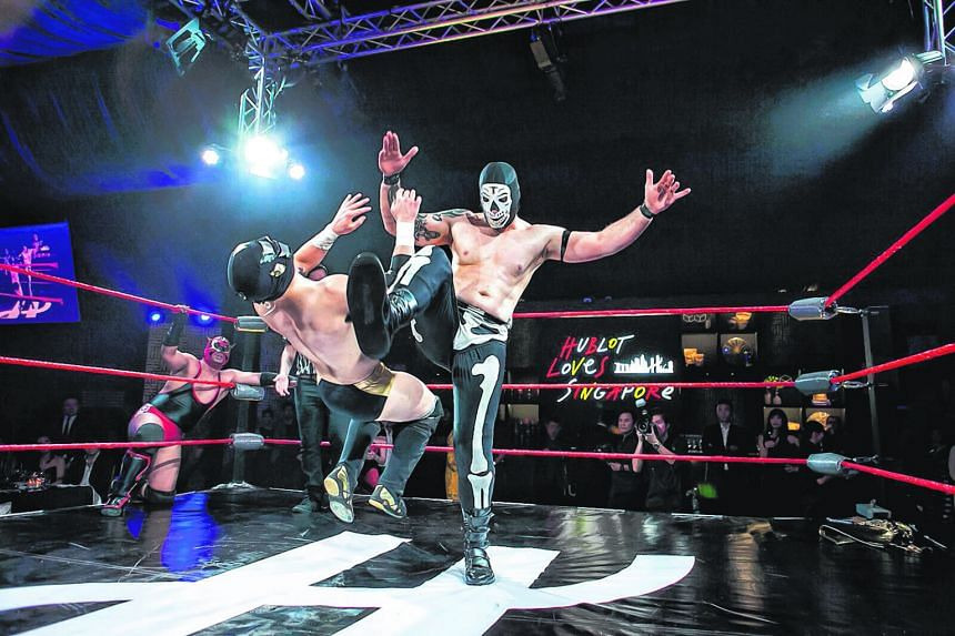 Singaporeans can get a taste of Lucha Libre - a Mexican-inspired form of professional wrestling - at the Hublot pop-up store located in Ngee Ann City's Civic Plaza. Hublot has been the exclusive watchmaking partner of Formula One giants Ferrari for o