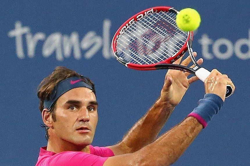 Roger Federer did not take long to get into the swing of things when he beat Roberto Bautista Agut 6-4, 6-4 in Cincinnati. He had not played since losing in the men's singles final at Wimbledon.