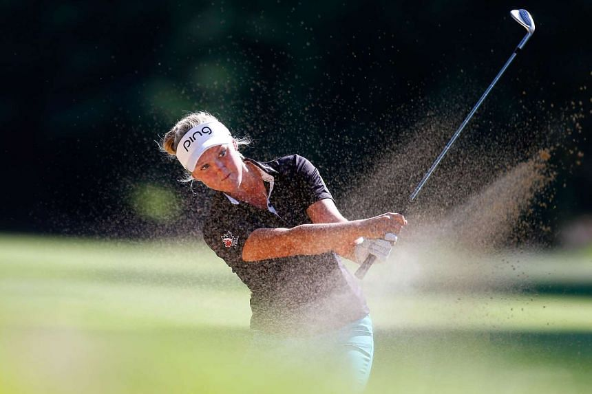 Teen prodigy Brooke Henderson during the final round of the LPGA Cambia Portland Classic on Aug 16, 2015.