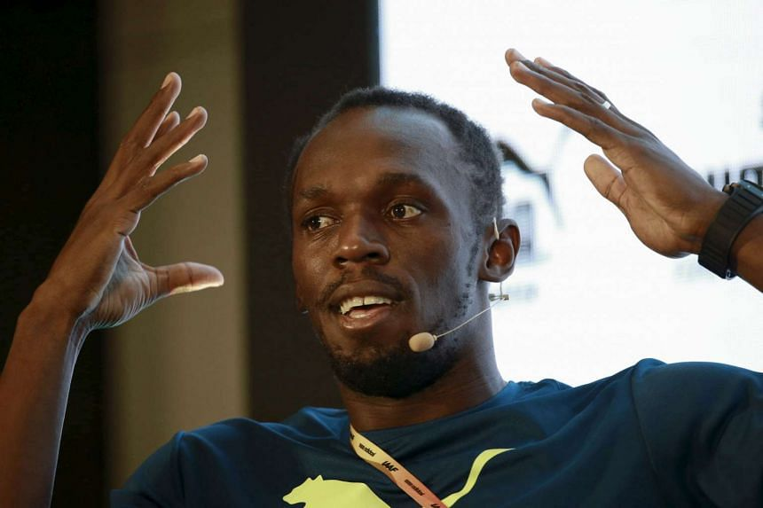 Jamaican sprinter Usain Bolt attends a news conference ahead of the IAAF World Championships in Beijing, China on Aug 20, 2015.