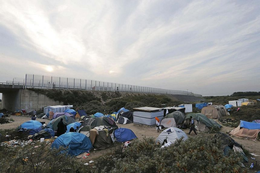 "General view of tents in the makeshift camp called ""The New Jungle"" in Calais, France on Aug 19, 2015."