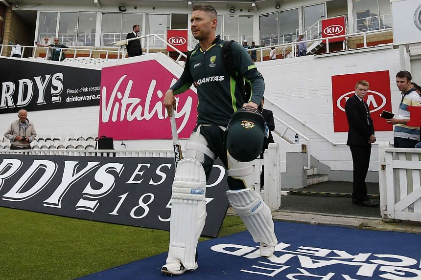 Australia's captain Michael Clarke arrives for a practice session at the Oval in London on Aug19, 2015, the eve of the fifth Ashes cricket test match against England.