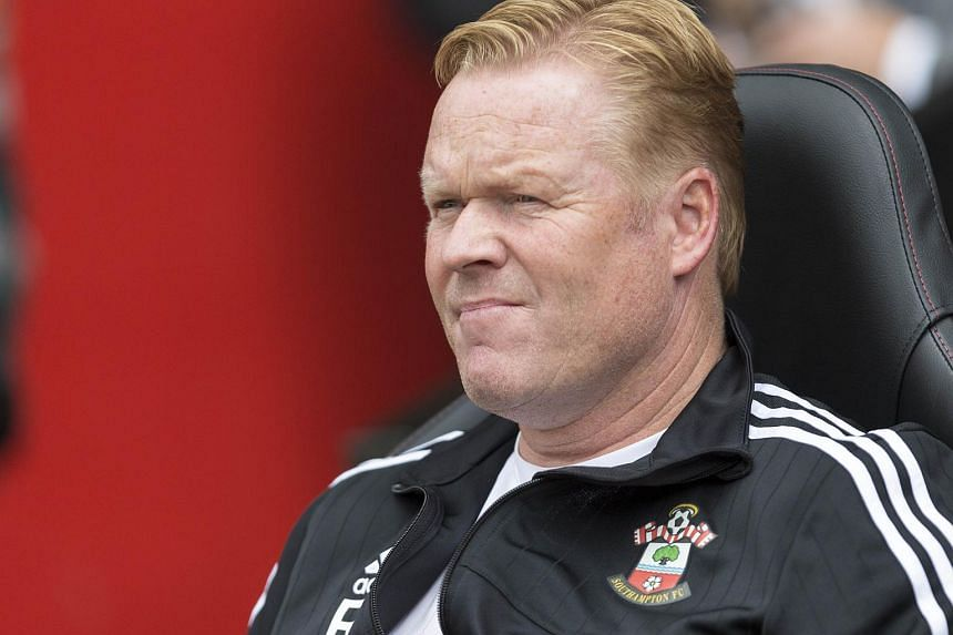 Southampton manager Ronald Koeman during the match between Southampton and Everton on Aug 15, 2015.