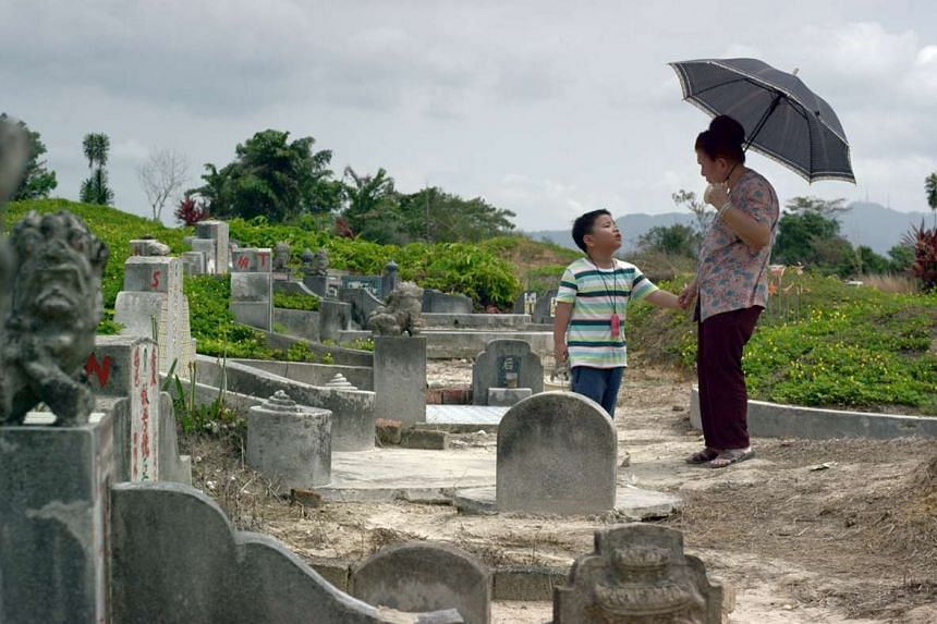 A film still from Kelvin Tong's Grandma Positioning System (GPS) in the film anthology 7 Letters.