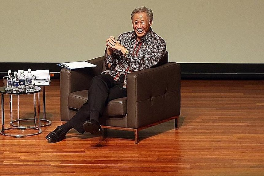 At the Kent Ridge Ministerial Forum last night, Defence Minister Ng Eng Hen said he hoped Singaporeans would remain focused on why and what they are voting for - choosing the next government.