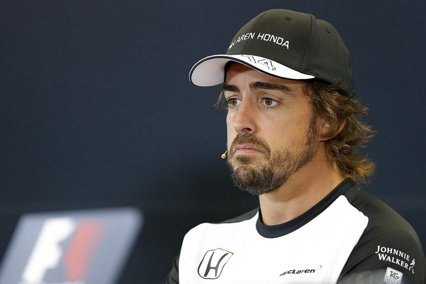 Spanish Formula One driver Fernando Alonso of McLaren Honda during the press conference at the Spa-Francorchamps race track near Francorchamps, Belgium, on Aug 20, 2015.