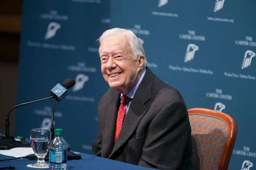 Jimmy Carter discusses his cancer diagnosis on Aug 20, 2015, in Atlanta, Georgia.