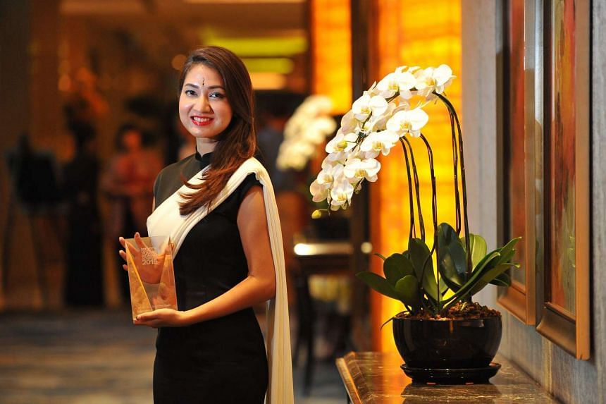 The Her World Young Woman Achiever winner Priscilla Shunmugam, 34, fashion designer and owner of local label Ong Shunmugam.