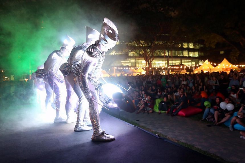 Spark! from UK performs at the Singapore Night Festival at SMU on Aug 21, 2015.