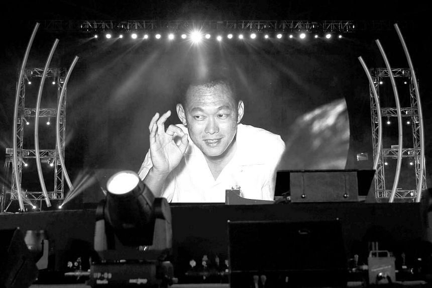Pictures of the country's late founding Prime Minister Lee Kuan Yew flashed on the screen at the Sing50 Concert.