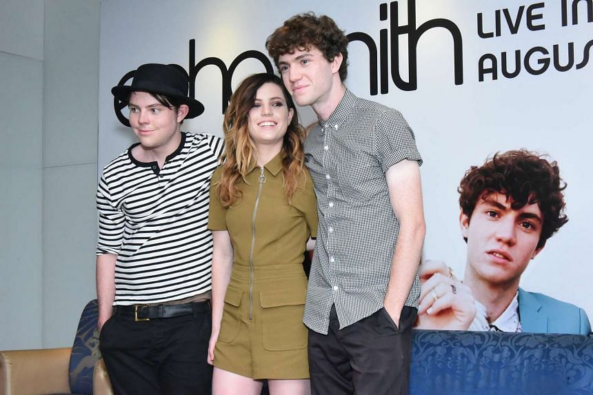 On a roll: (from left) Graham, Sydney and Noah Sierota of Echosmith who performed here last week.