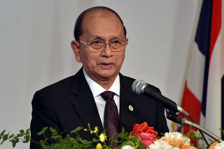 Myanmar President Thein Sein at an economic forum in Tokyo on July 3, 2015.