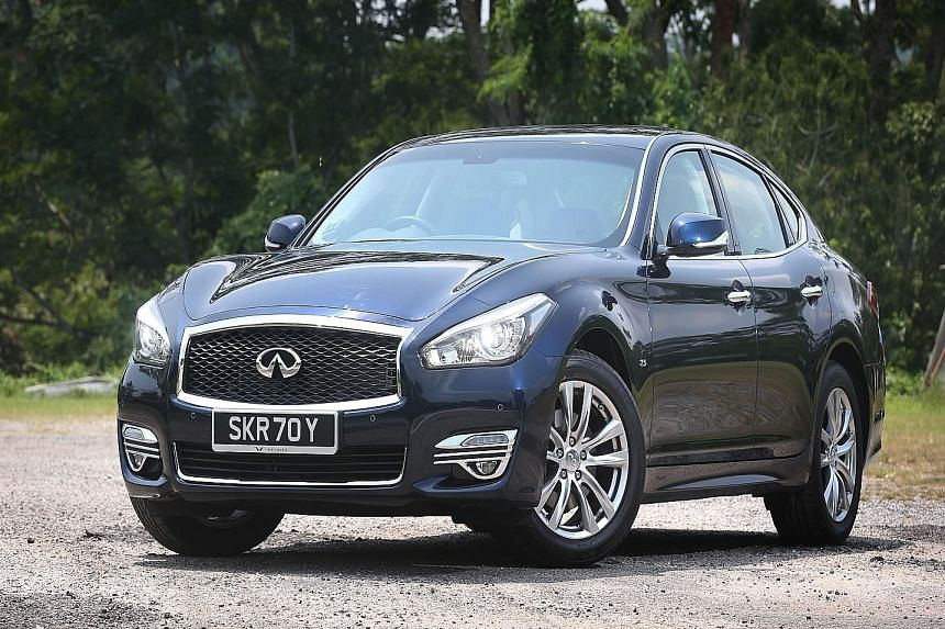 The Infiniti Q70 has been styled to look more contemporary and upmarket.