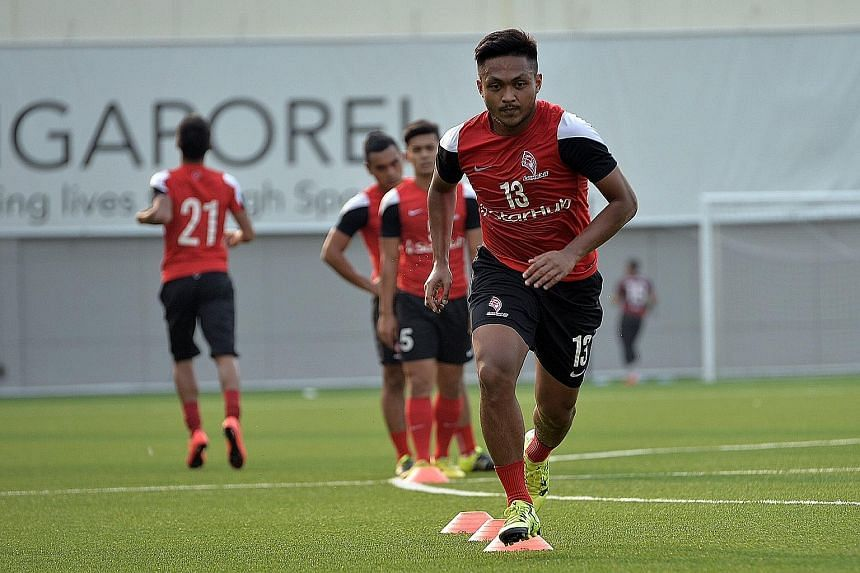 LionsXII's Izzdin Shafiq has made the midfield enforcer position his own this year, earning praise from coach Fandi Ahmad.