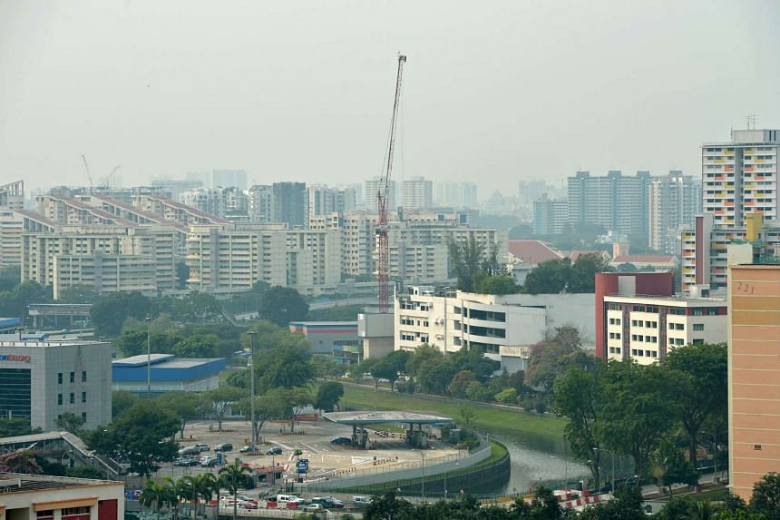 Slight haze as seen from Bishan on Aug 21, 2015.