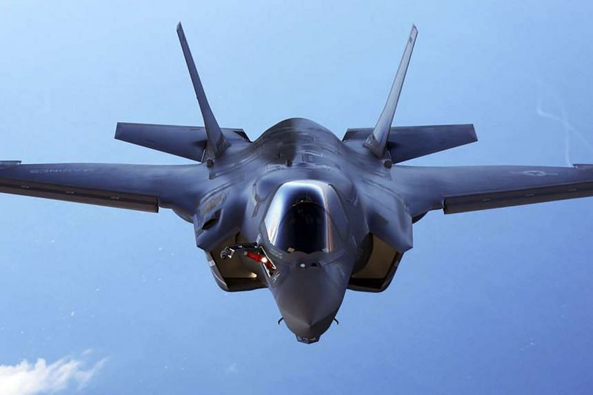 A US Marine Corps F-35B joint strike fighter jet.