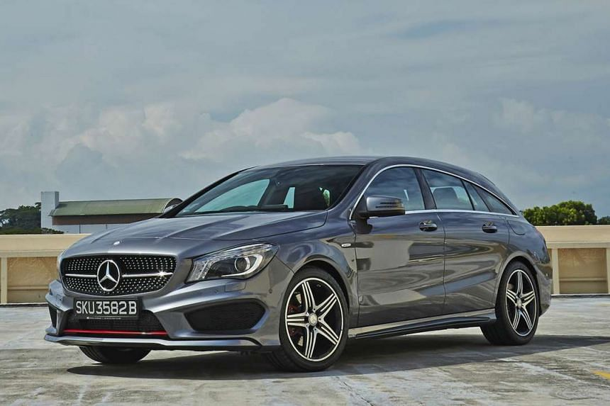 The CLA250 Shooting Brake looks elegant and boasts lots of cabin and boot space.