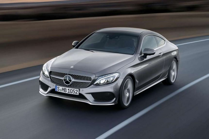 Mercedes- Benz C-class Coupe (above).