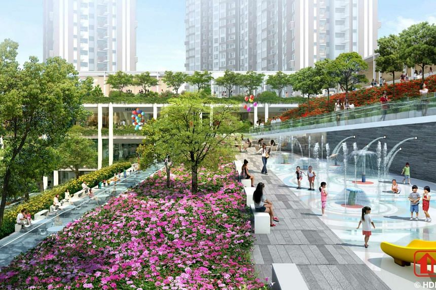 An artist's impression of Oasis Terraces.