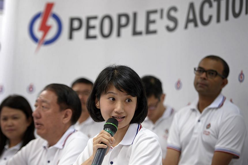 New PAP candidate for Pasir Ris-Punggol GRC Sun Xueling speaks to the media on Aug 22, 2015.